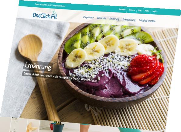 WebSite: www.oneclickfit.com | Mit einem Click fühlst Du Dich fit.